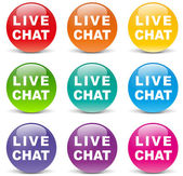 Vector live chat icons — Stock Vector