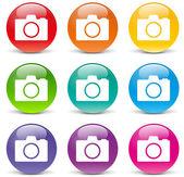 Vector camera icons — Stock Vector