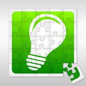 Lightbulb puzzle — ストックベクタ