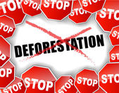 Stop deforestation concept — Stock Vector
