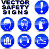 Vector safety signs — Stock Vector