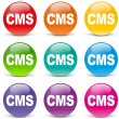 iconos coloridos CMS — Vector de stock  #46498137