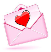 Love mail envelope — Stockvektor
