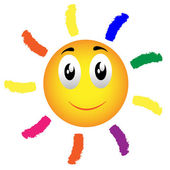 Happy sun vector — Stock Vector
