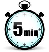 Five minutes stopwatch — Stock Vector