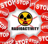Stop radioactivity — Stock Vector