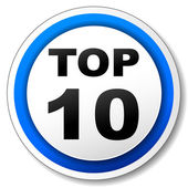 Vector top ten iconr — Stock Vector