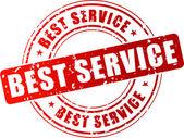 Vector best service stamp — Stock Vector