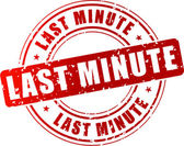 Last minute stamp — Stock Vector