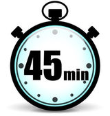 Forty five minutes icon — Stock Vector