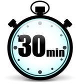 Thirty minutes — Stock Vector