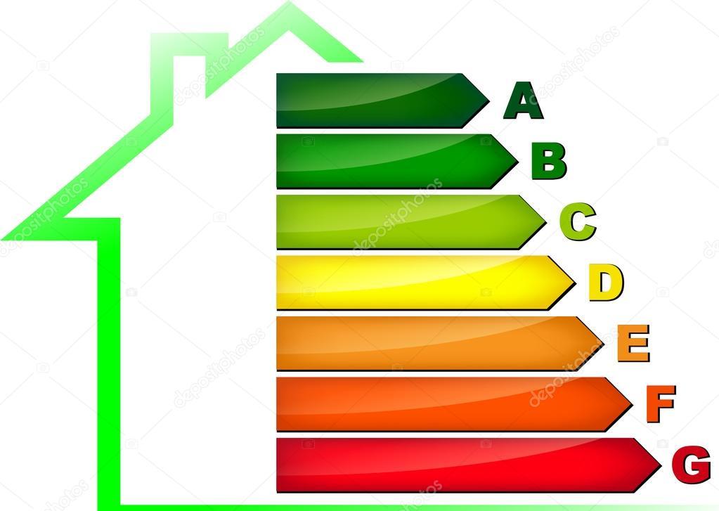 ... Símbolo de eficiência de energia — Ilustração de Stock #47993975