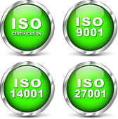 Vector iso certification icons — Stock Vector