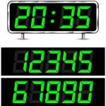 Vector digital clock — Stock Vector #49060229