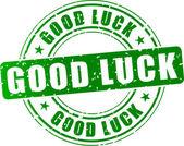 Vector good luck stamp — Stock Vector