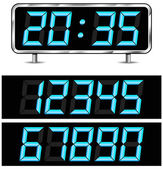 Vector digital metal clock — ストックベクタ