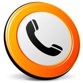 Vektör telefon simgesi — Stok Vektör
