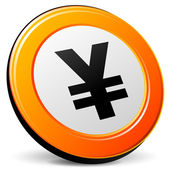 Vector yen icon — Stock Vector