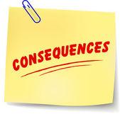 Vector consequences message — Stock Vector