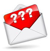 Vector interrogative mail — Stock Vector