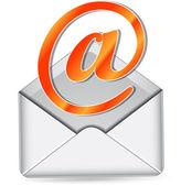 Icône courrier orange vecteur — Vecteur