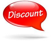 Vector discount speech bubble — Vecteur