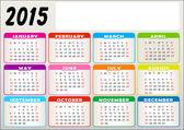 Vektor-kalender — Stockvektor