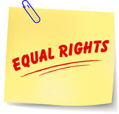 Vector equal rights message — Stock Vector