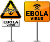 Ebola virus area sign — Stock Vector
