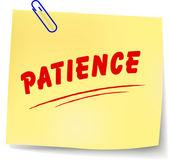 Vector patience message — Stock Vector