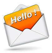 Vector hello message — Stock vektor