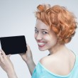 Woman holding tablet computer — Stock Photo #26240369