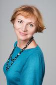 Beautiful Smiling Senior Woman Studio Portrait — Stock Photo