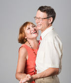 Happy laughing senior couple having fun together — Stock Photo