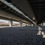 Road interchange. Elevated expressway — Stock Photo #48146573