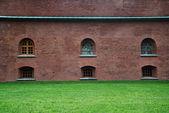 Rode bakstenen muren — Stockfoto