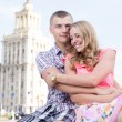 Portrait of a happy couple embracing and smiling together. — Stock Photo #51786469