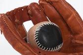 Baseball Glove with ball — Stock Photo