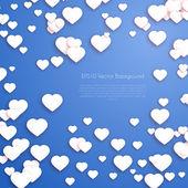 Día de san valentín corazones de fondo — Vector de stock