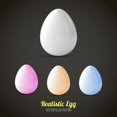 Realistic easter eggs set — Stock Vector
