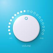 Vector volume music control. — Stock Vector