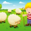 Little shepherd — Stock Vector #28684365