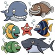 Sea Animals Collection — Stock Vector #28684383