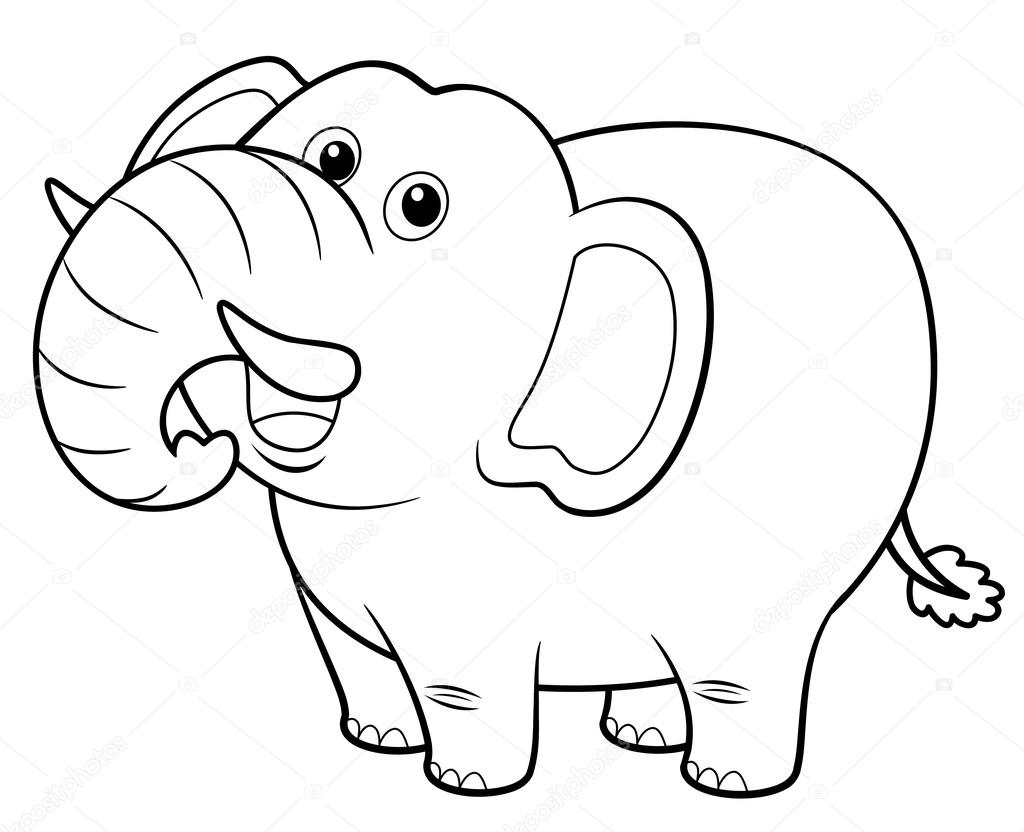 Hermosa Imagenes De Elefantes Animados Para Colorear