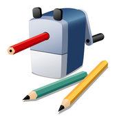 Pencil sharpener vector — Stock Vector