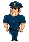 Policeman cartoon — Stock Vector
