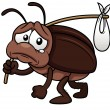 Stock Vector: Cockroach cartoon get out