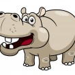 Cartoon Hippopotamus — Vettoriali Stock