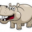 Cartoon Hippopotamus — Stockvectorbeeld