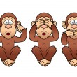 Cartoon Three monkeys — Stock Vector #28934625